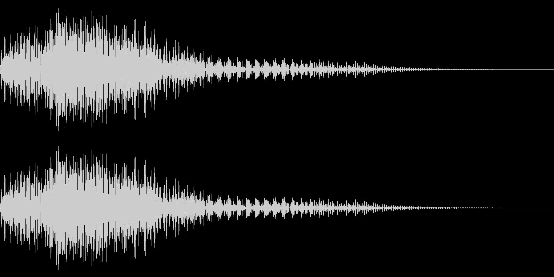 メカ挙動音、衝撃音の未再生の波形