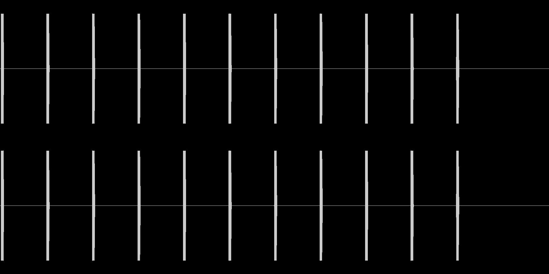 ピッピッピ(映画が始まる前のカウント)の未再生の波形