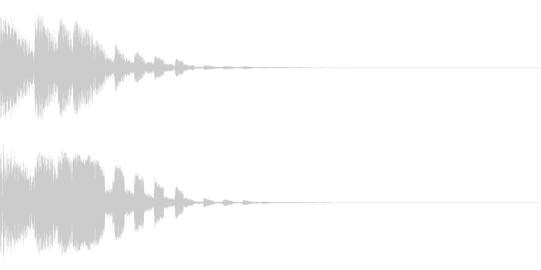 ゲーム系全般使えるPUSH音の未再生の波形