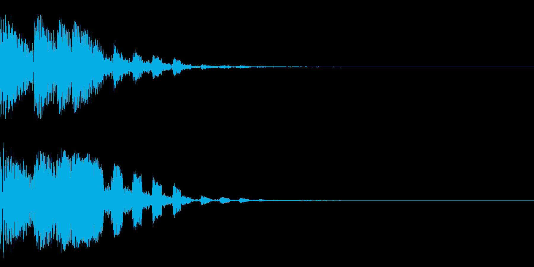 ゲーム系全般使えるPUSH音の再生済みの波形