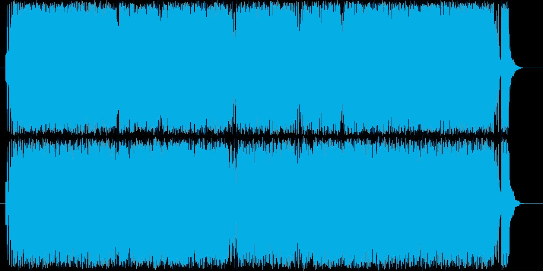 力強い 激しい スピード 緊張 追跡の再生済みの波形