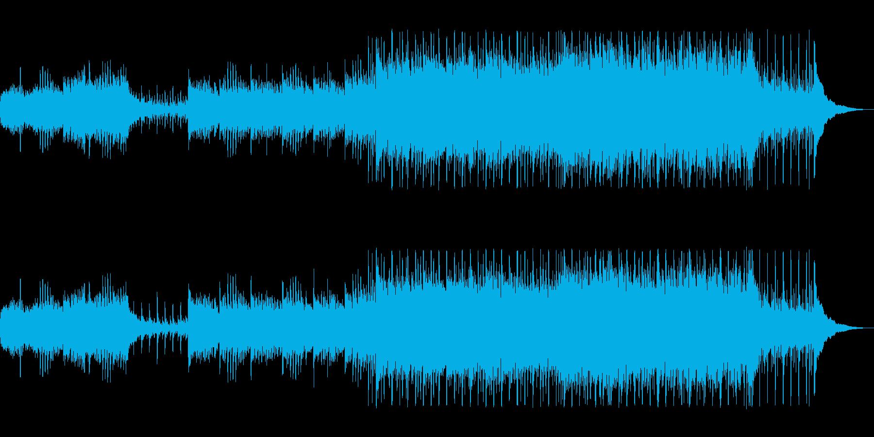 景色が流れていくような明るい曲の再生済みの波形