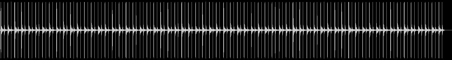 足音でカウントの未再生の波形