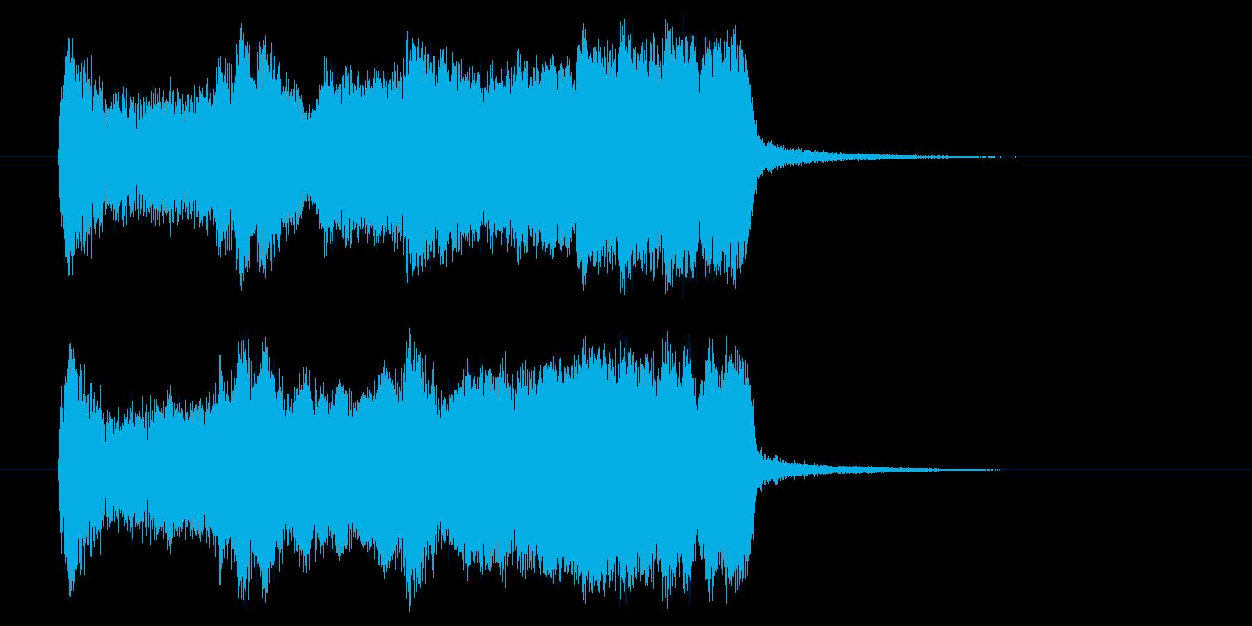 勢いと楽しげなギターサウンド(短め)の再生済みの波形