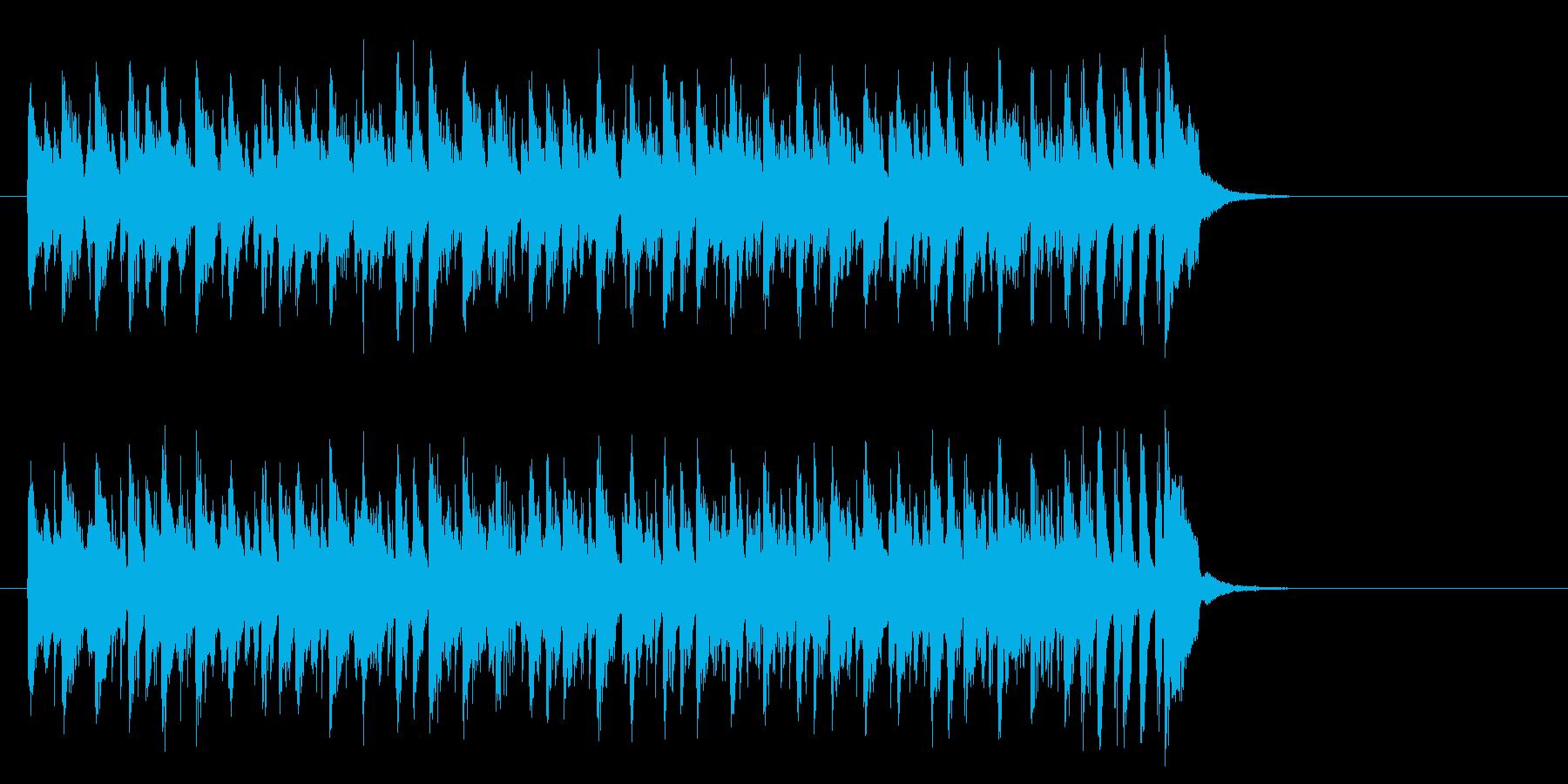 ワールド系サンバ風BGM(サビ)の再生済みの波形