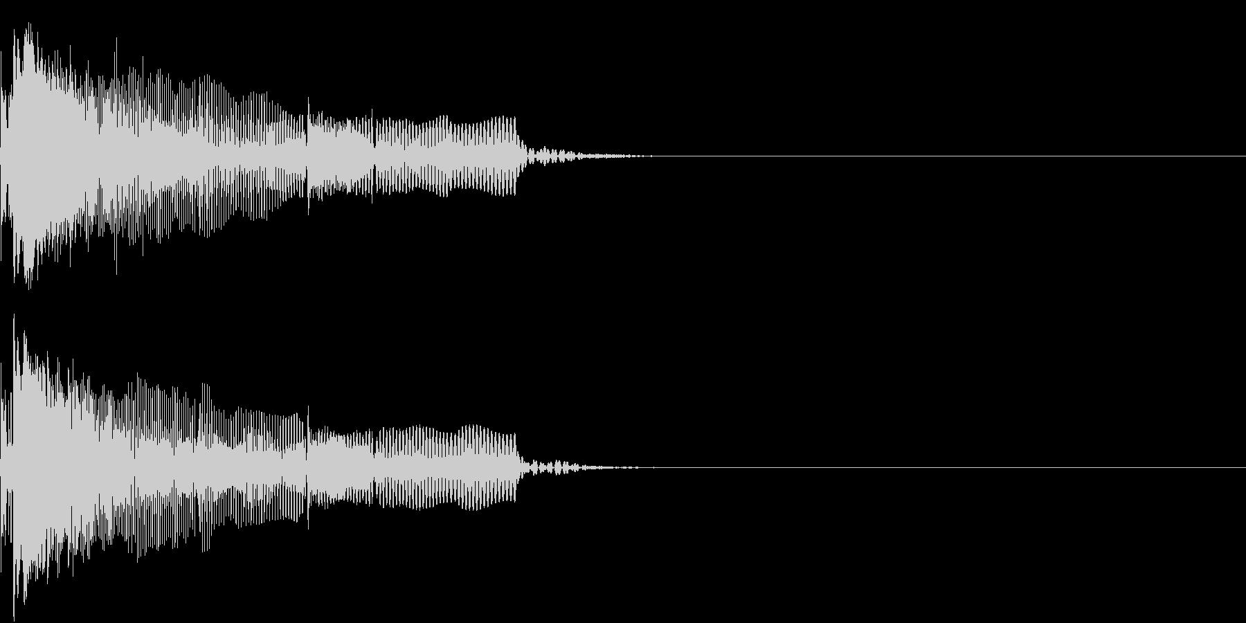 NG ヘンテコなエラー音 ミステイクの未再生の波形
