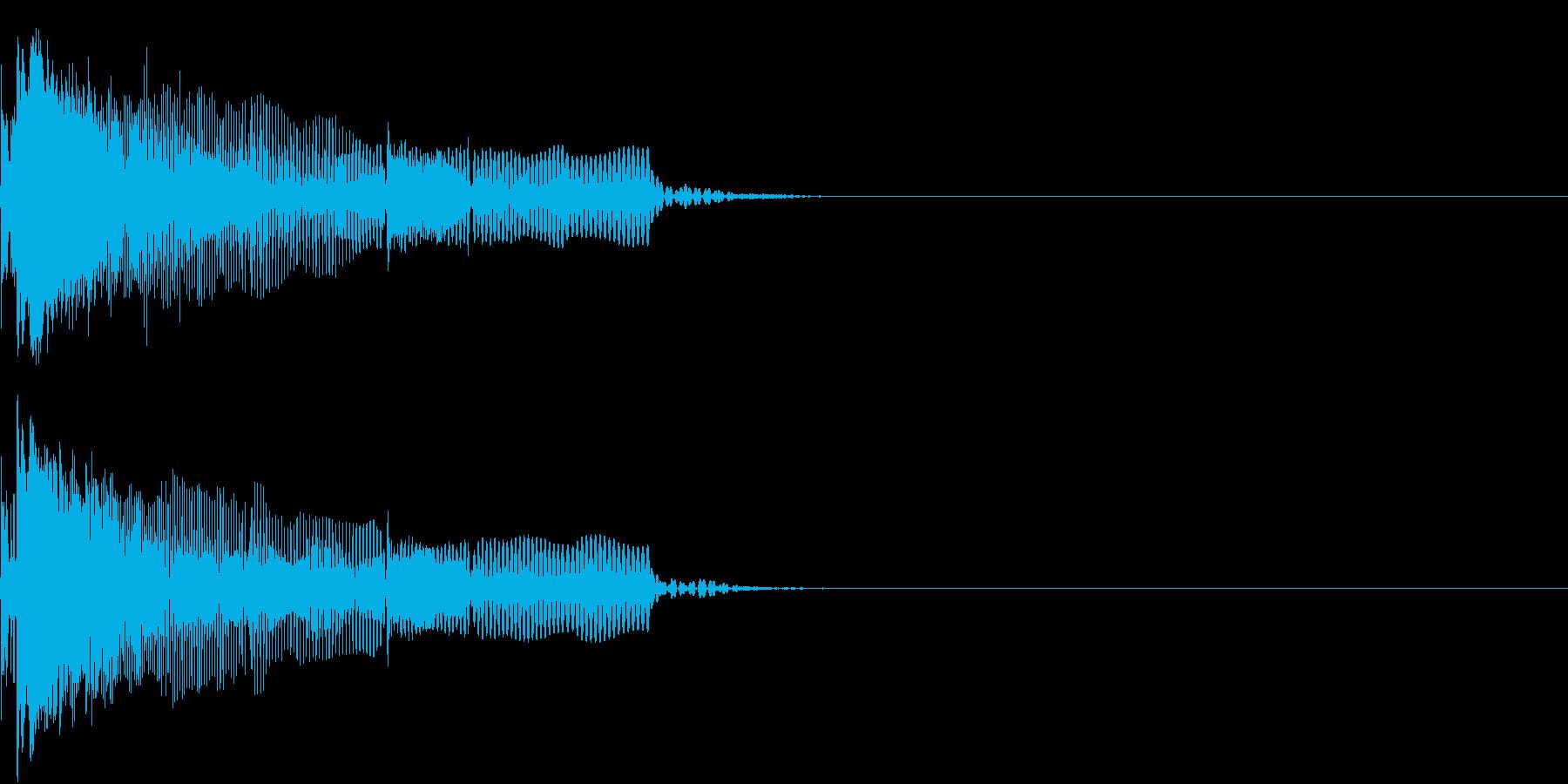 NG ヘンテコなエラー音 ミステイクの再生済みの波形