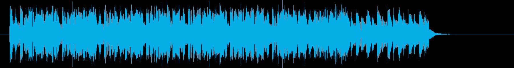 躍動感のあるテクノサウンドの再生済みの波形