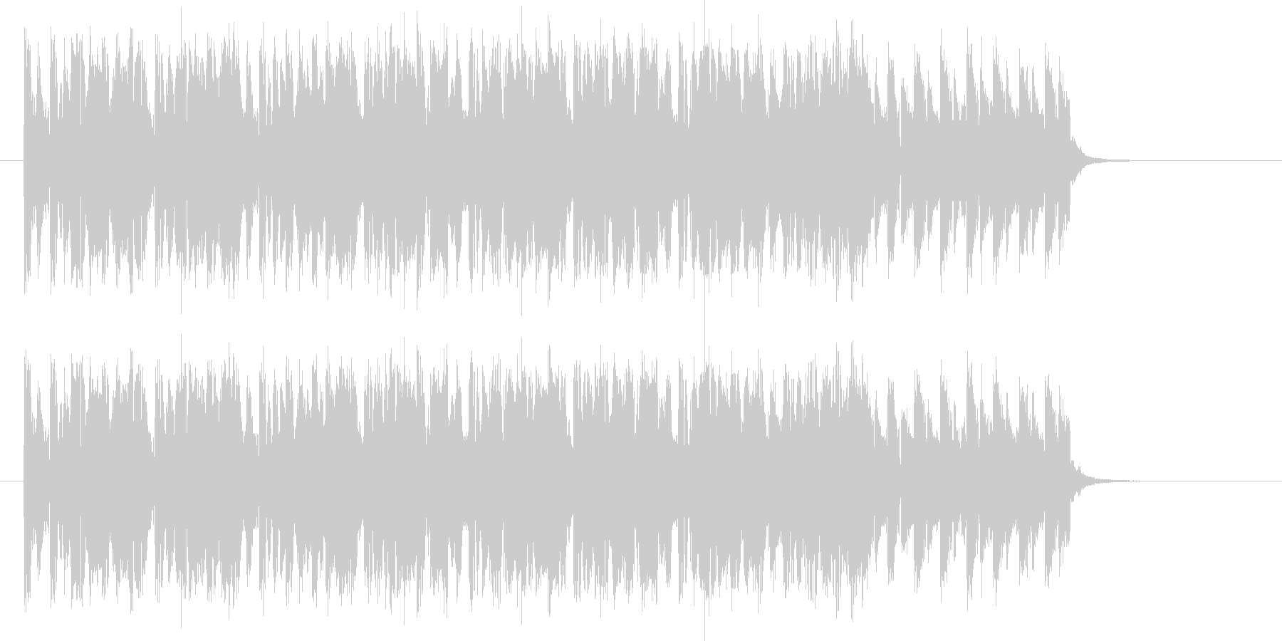躍動感のあるテクノサウンドの未再生の波形