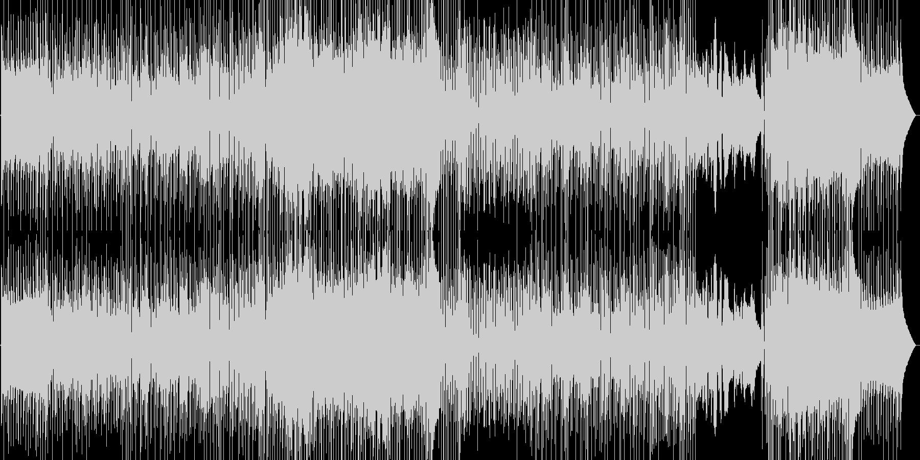 わくわくする1日の始まり、朝の曲の未再生の波形