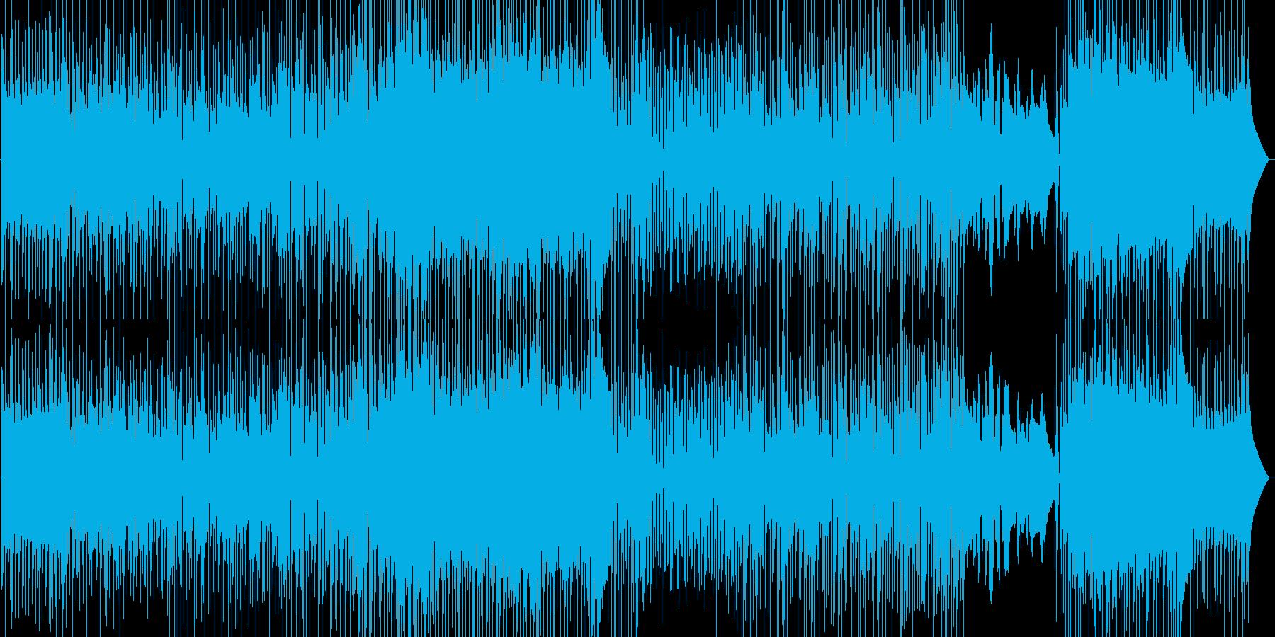 わくわくする1日の始まり、朝の曲の再生済みの波形