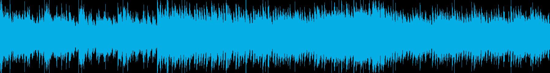 謎めいた雰囲気のミステリー系BGMの再生済みの波形