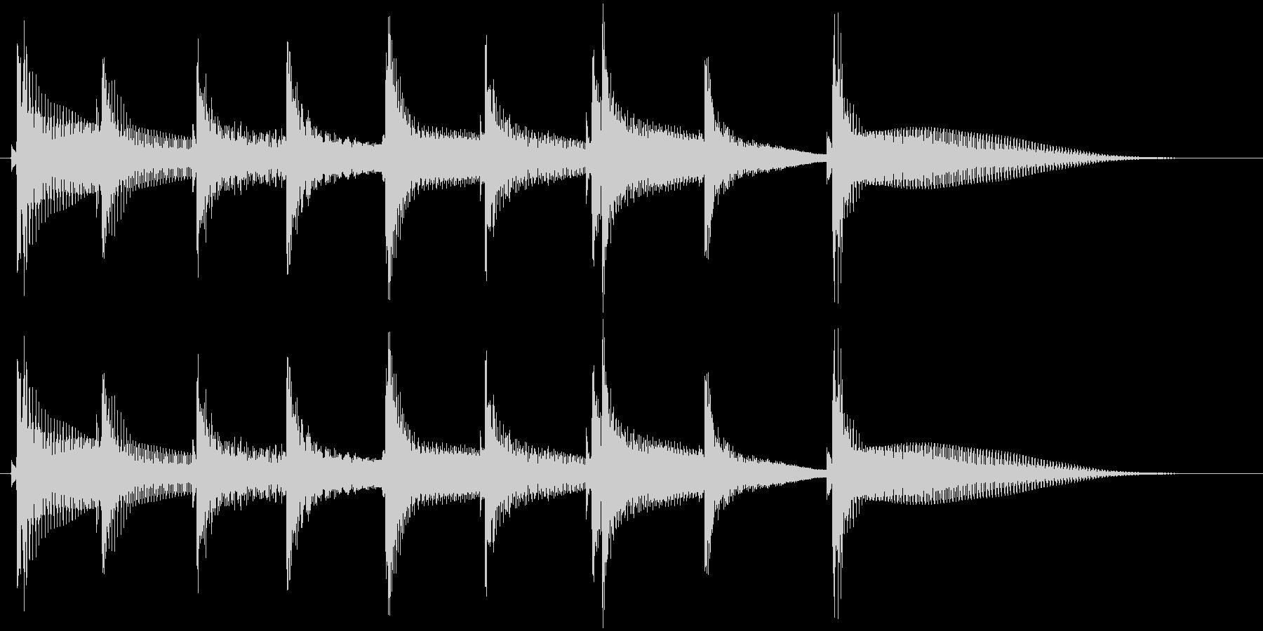 沖縄風通知音1の未再生の波形