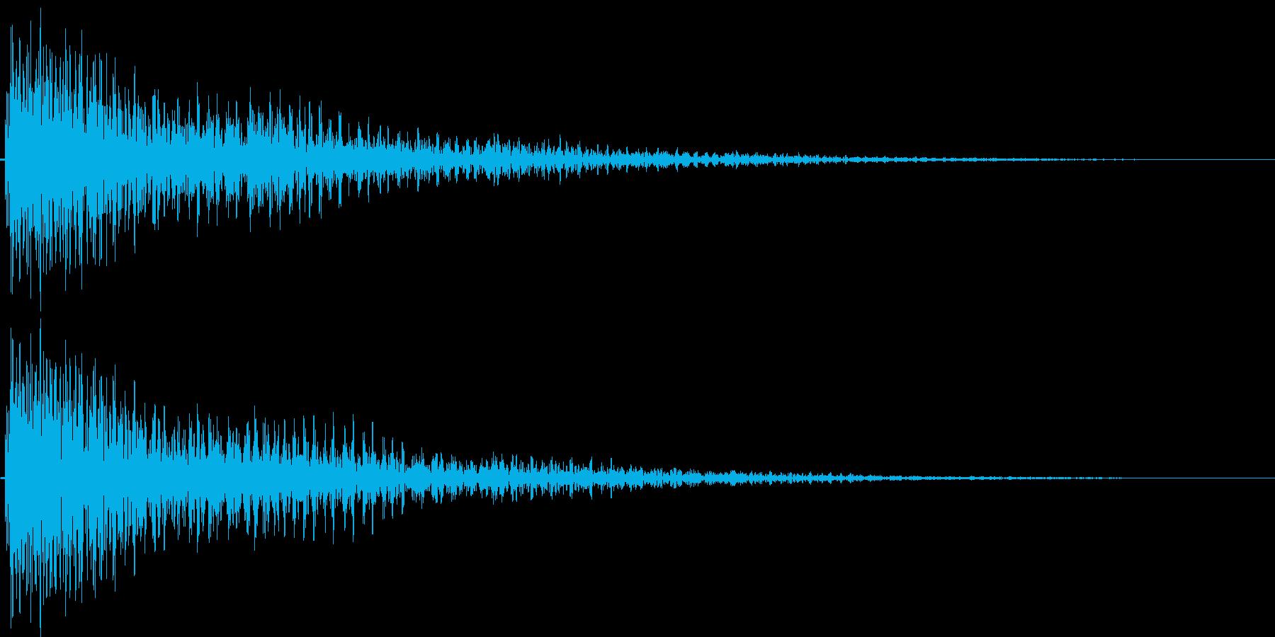 デーン(ガッカリ、失敗、ショック)の再生済みの波形