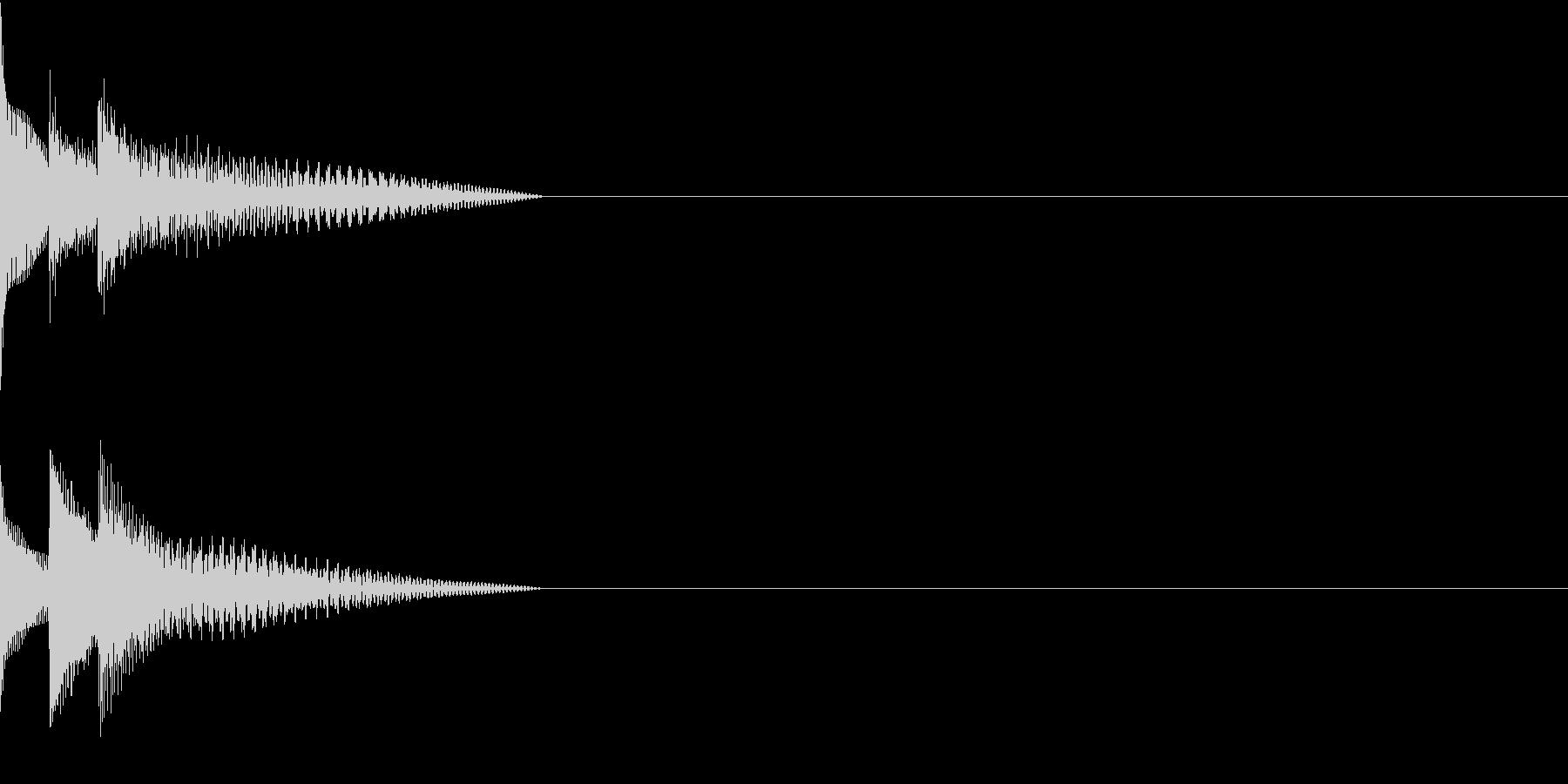 Cursor セレクト・カーソルの音13の未再生の波形