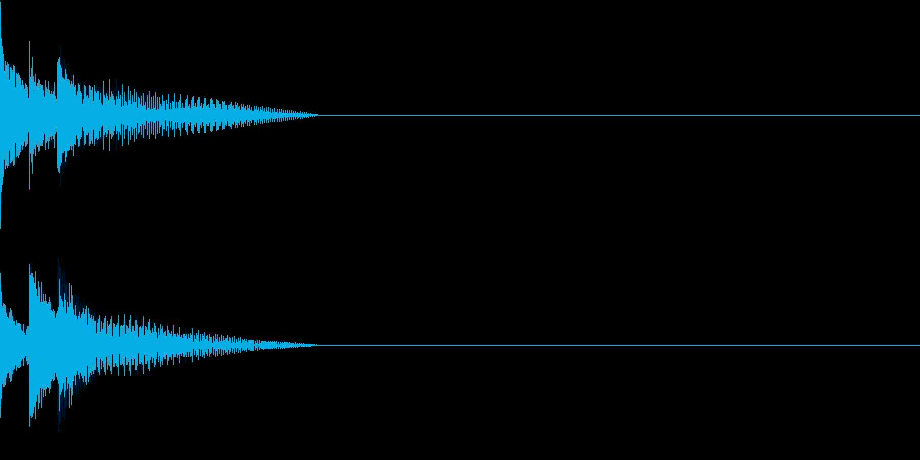 Cursor セレクト・カーソルの音13の再生済みの波形