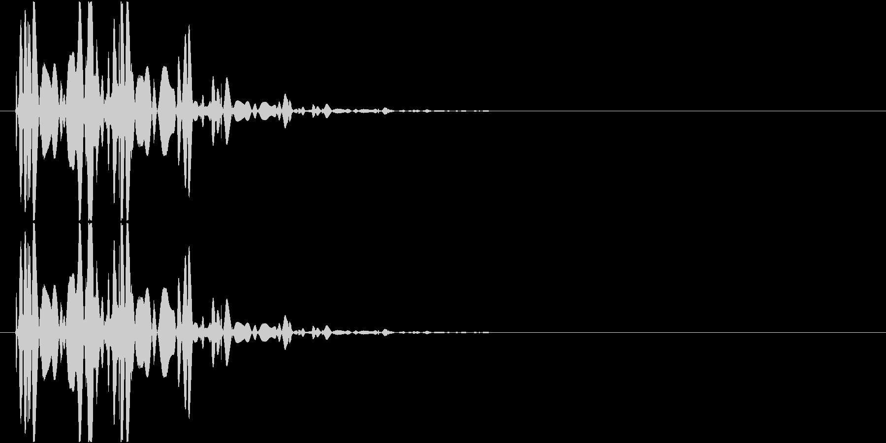 ベチャッ01(泥・液体系のアクション音)の未再生の波形
