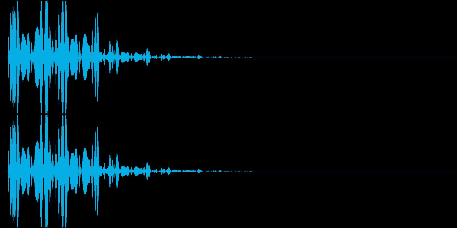 ベチャッ01(泥・液体系のアクション音)の再生済みの波形