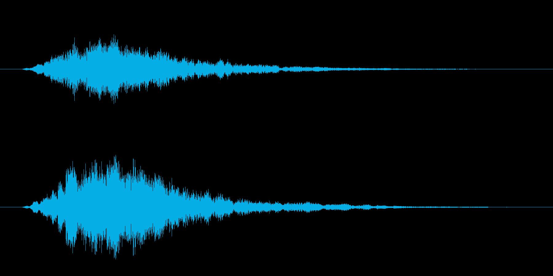 みずみずしいティロリロした音です。の再生済みの波形