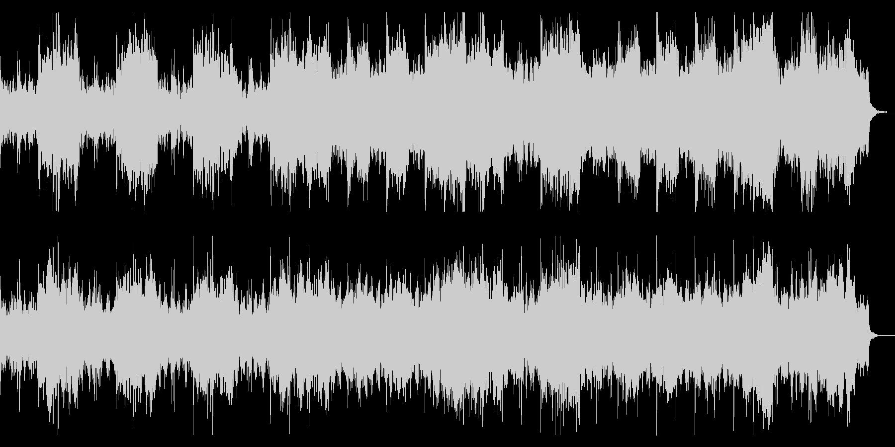 ダーク、ホラー向け ドラム入りBGMの未再生の波形