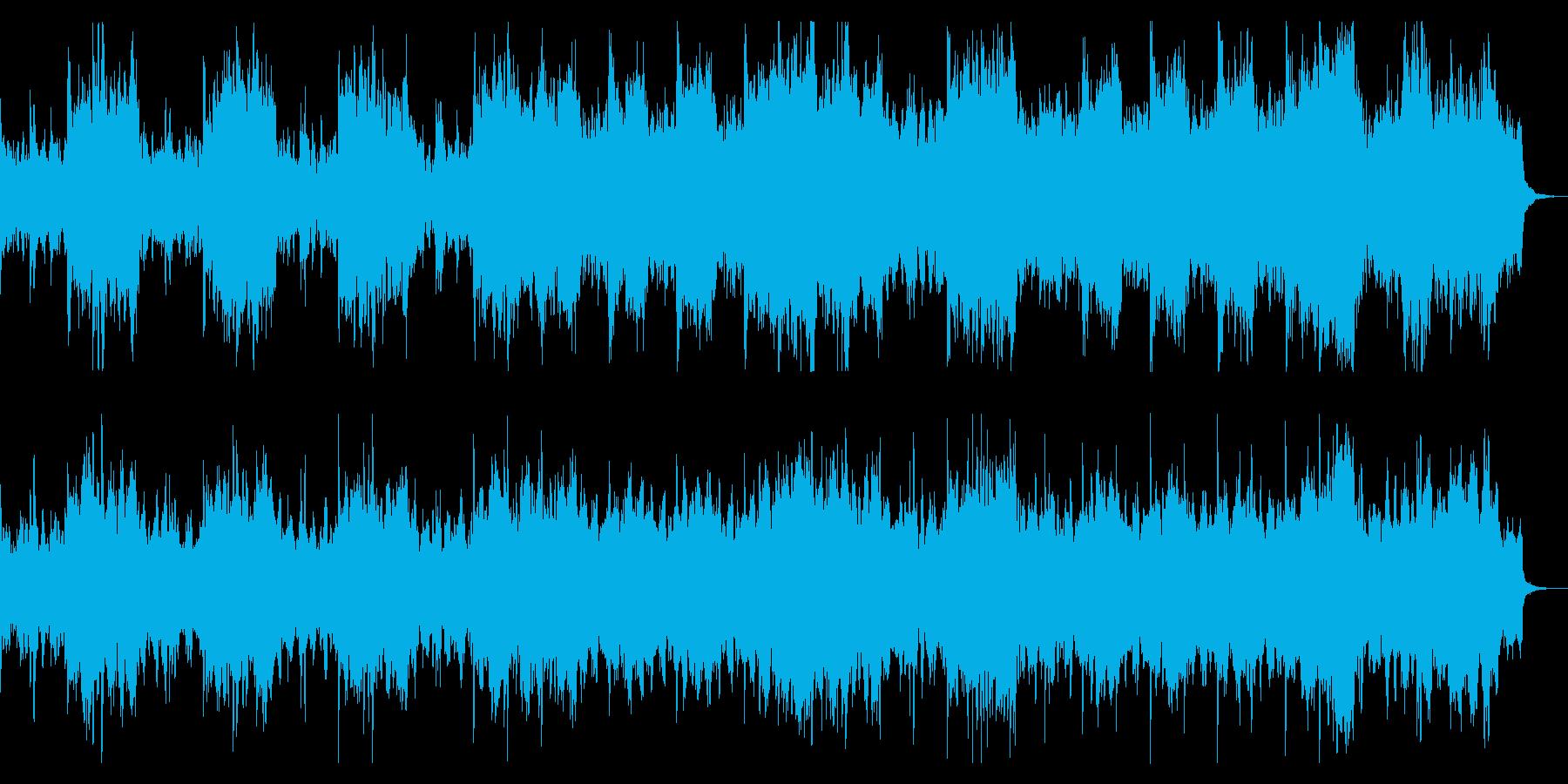 ダーク、ホラー向け ドラム入りBGMの再生済みの波形