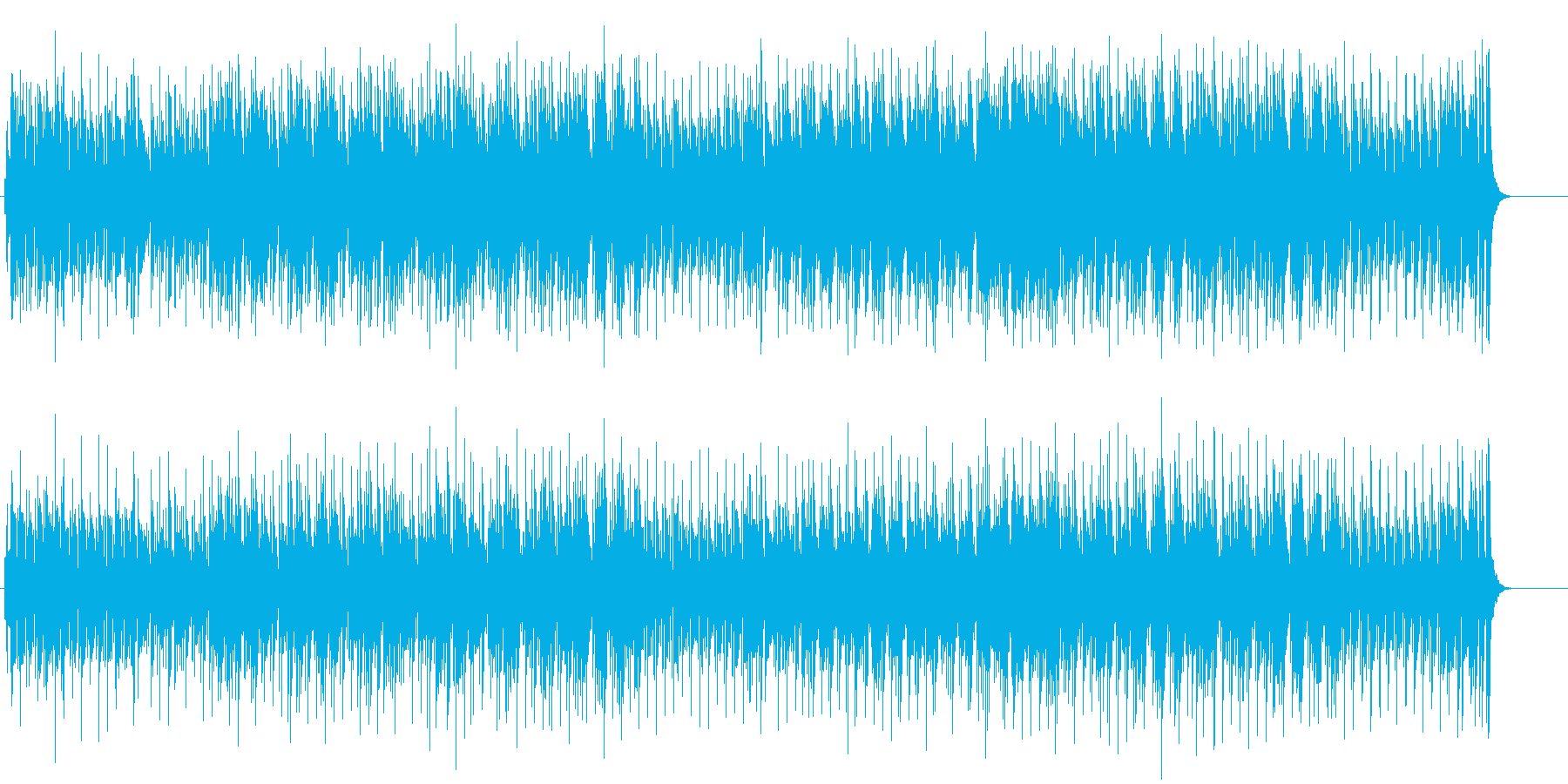 リゾート気分のボサノバ風ポップスの再生済みの波形