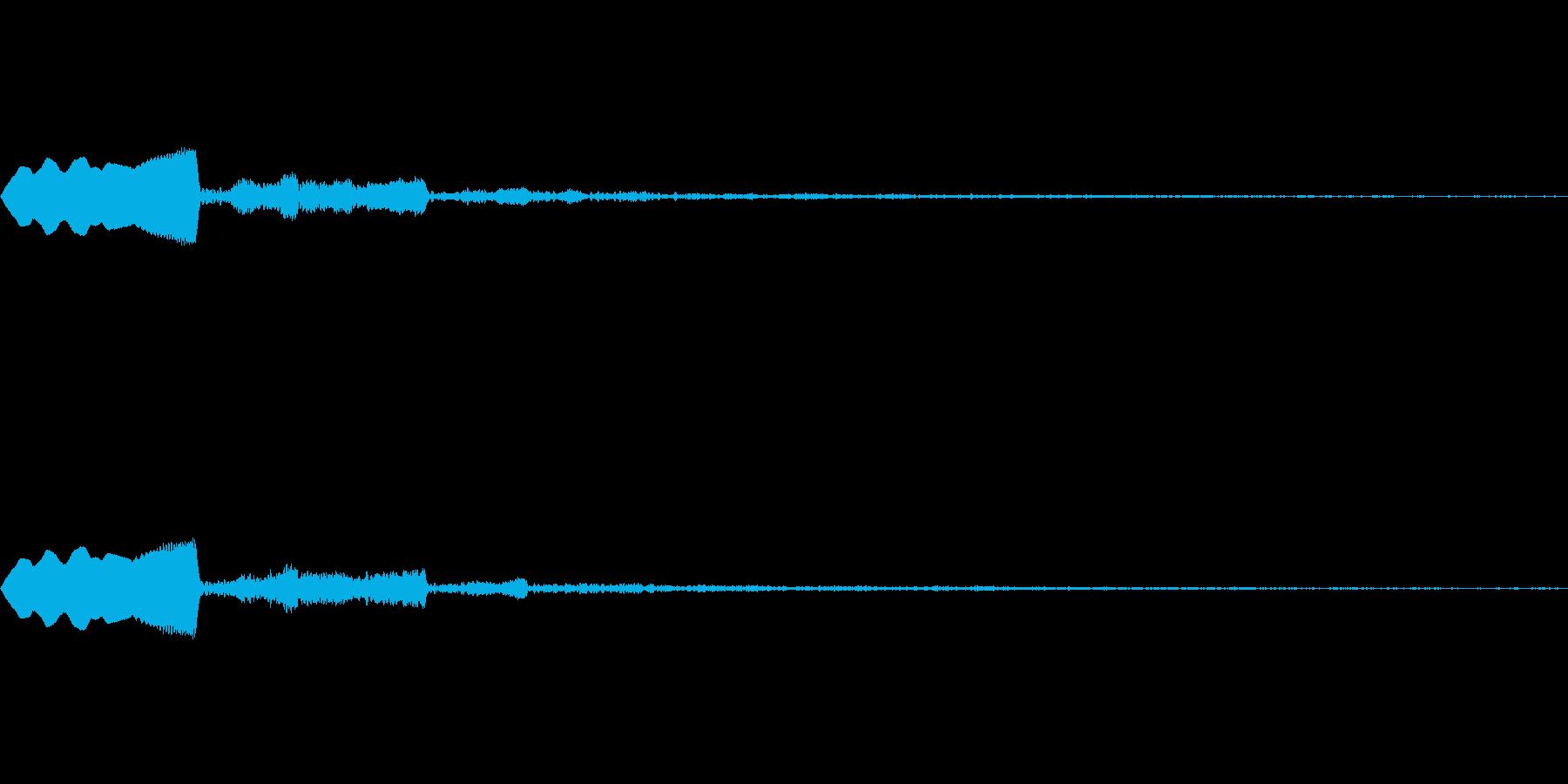 ピヨィ 鳥の声のような音の再生済みの波形