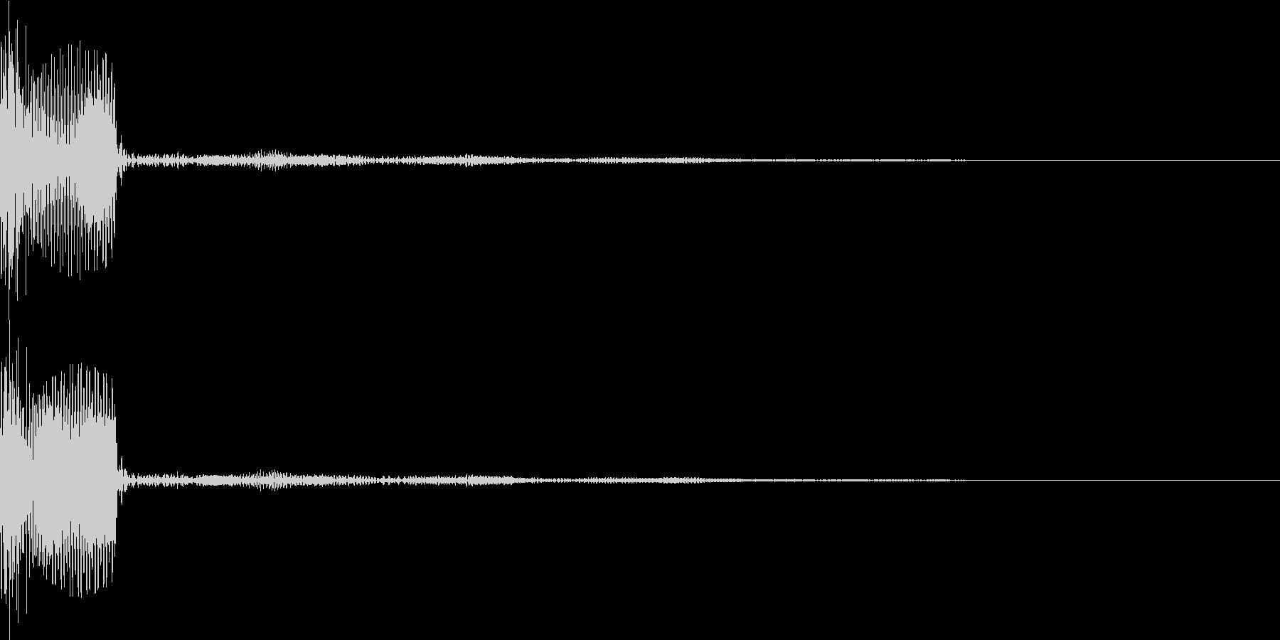 ピッ(カーソル移動 表示 決定)の未再生の波形