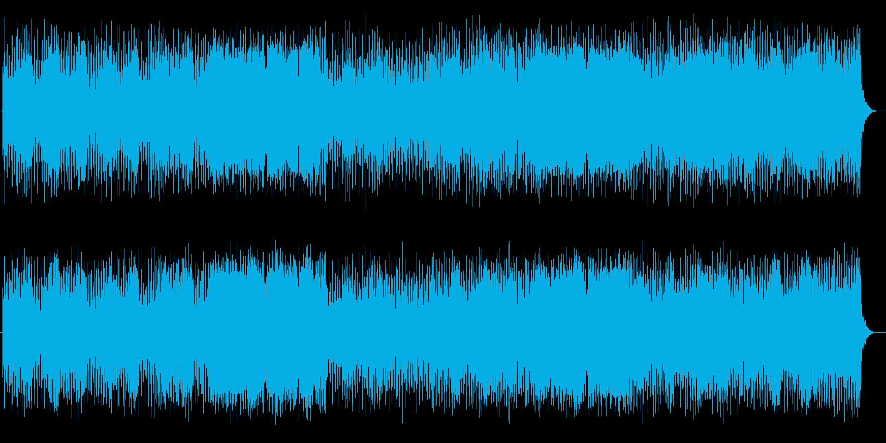 壮大で勢いのあるシンセサイザーサウンドの再生済みの波形