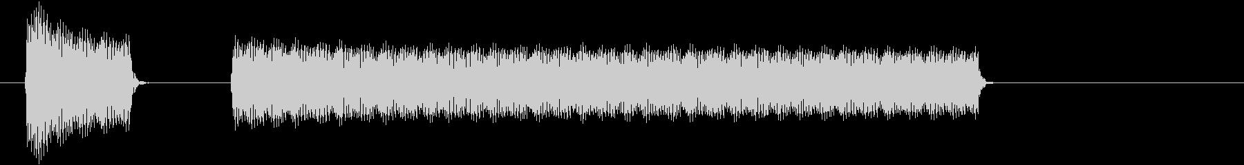 ブブー(クイズ・不正解・ブザー音)01の未再生の波形