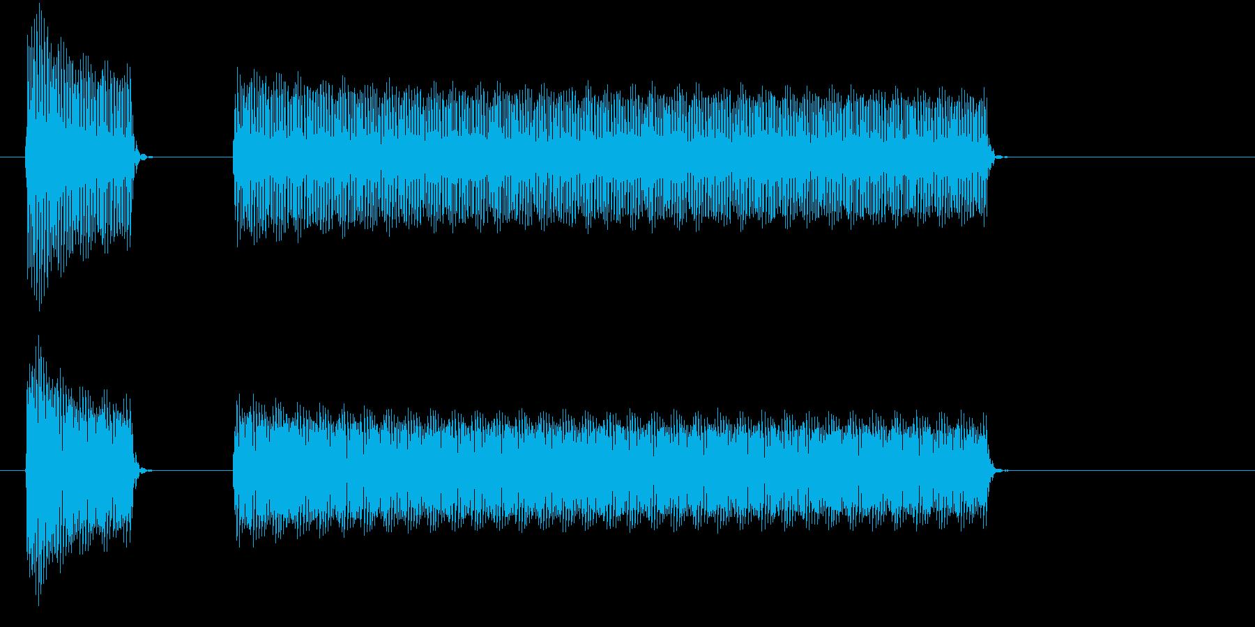 ブブー(クイズ・不正解・ブザー音)01の再生済みの波形