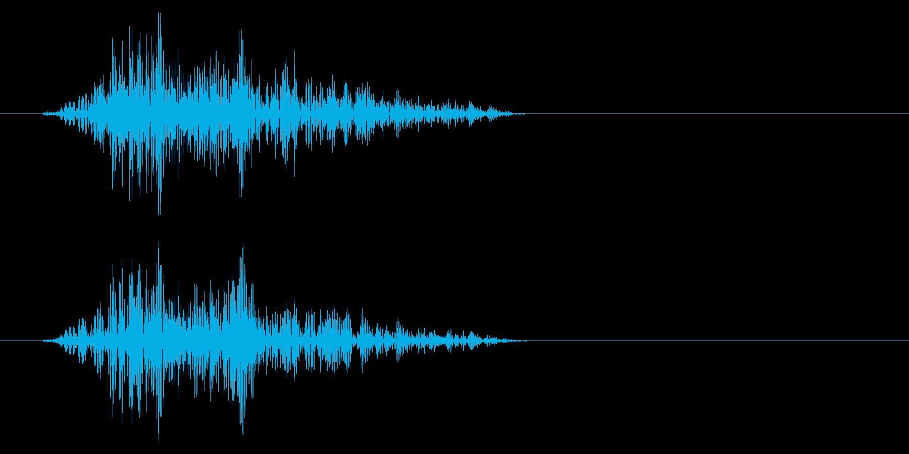 少し強い風切りの効果音の再生済みの波形
