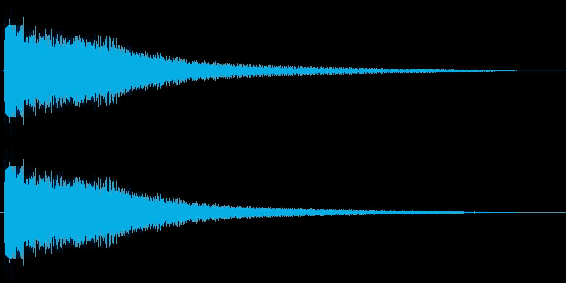 チーン(金属の音色)の再生済みの波形