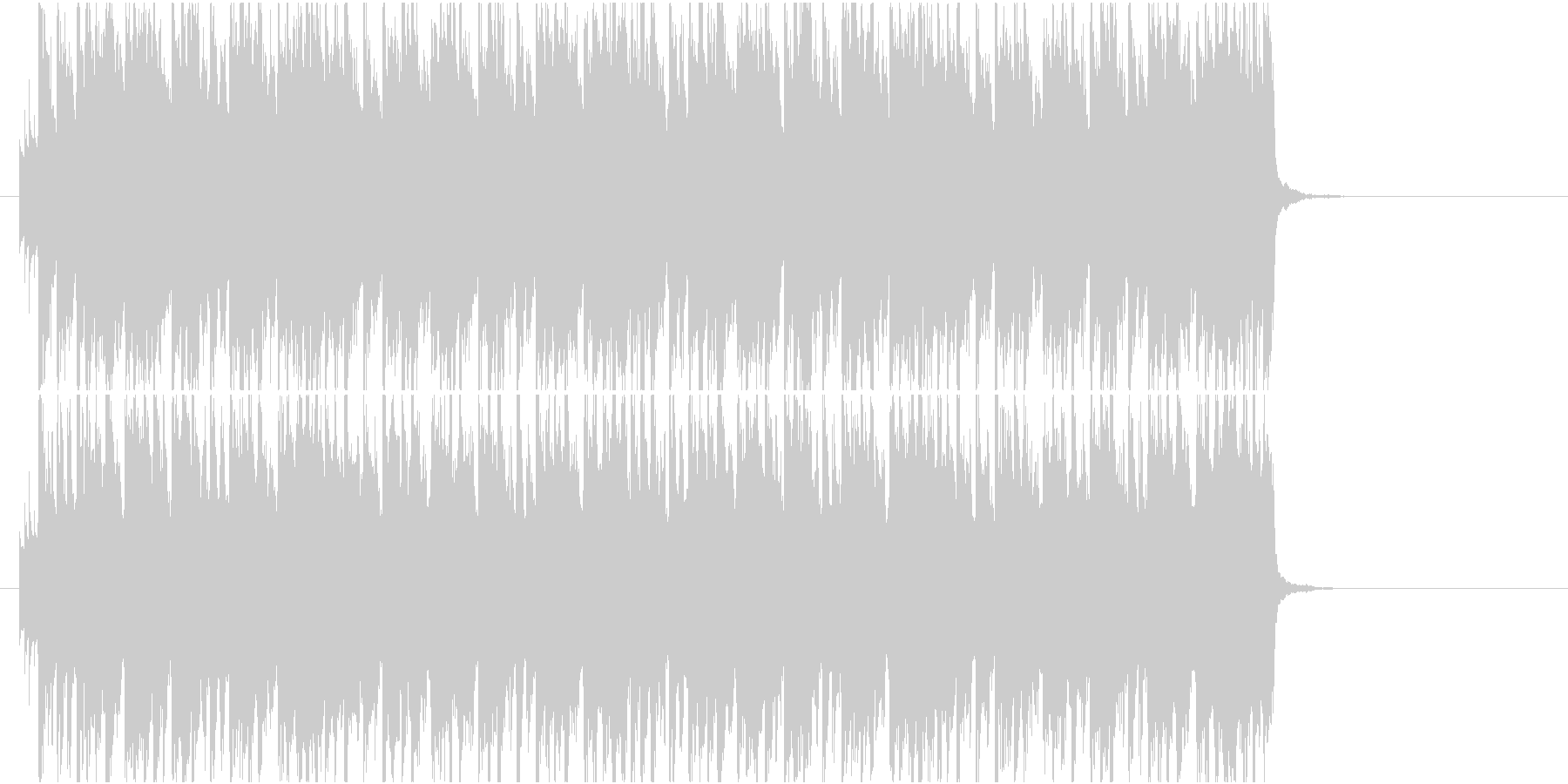 ポップエレクトロにストリングスピチカートの未再生の波形