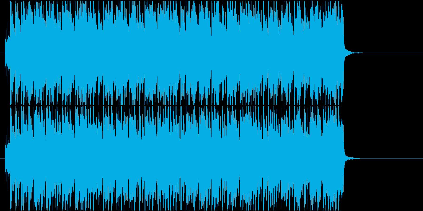 ポップエレクトロにストリングスピチカートの再生済みの波形