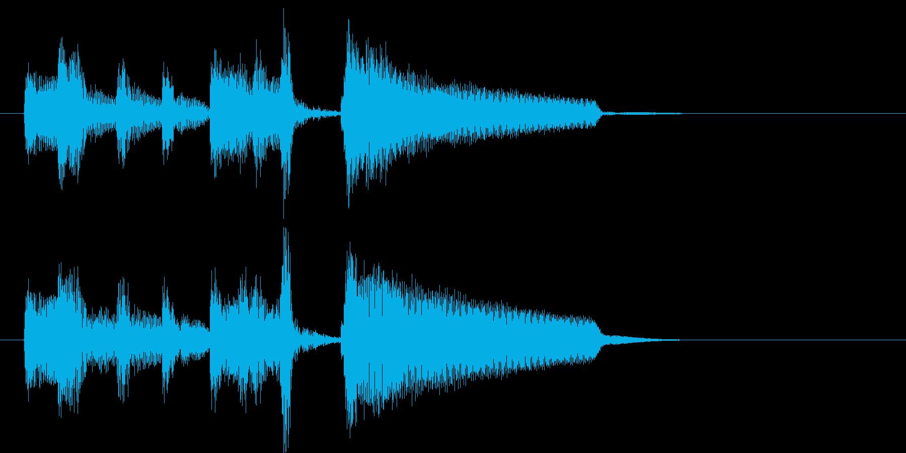ブルースのエンディング、ジングル等に。の再生済みの波形