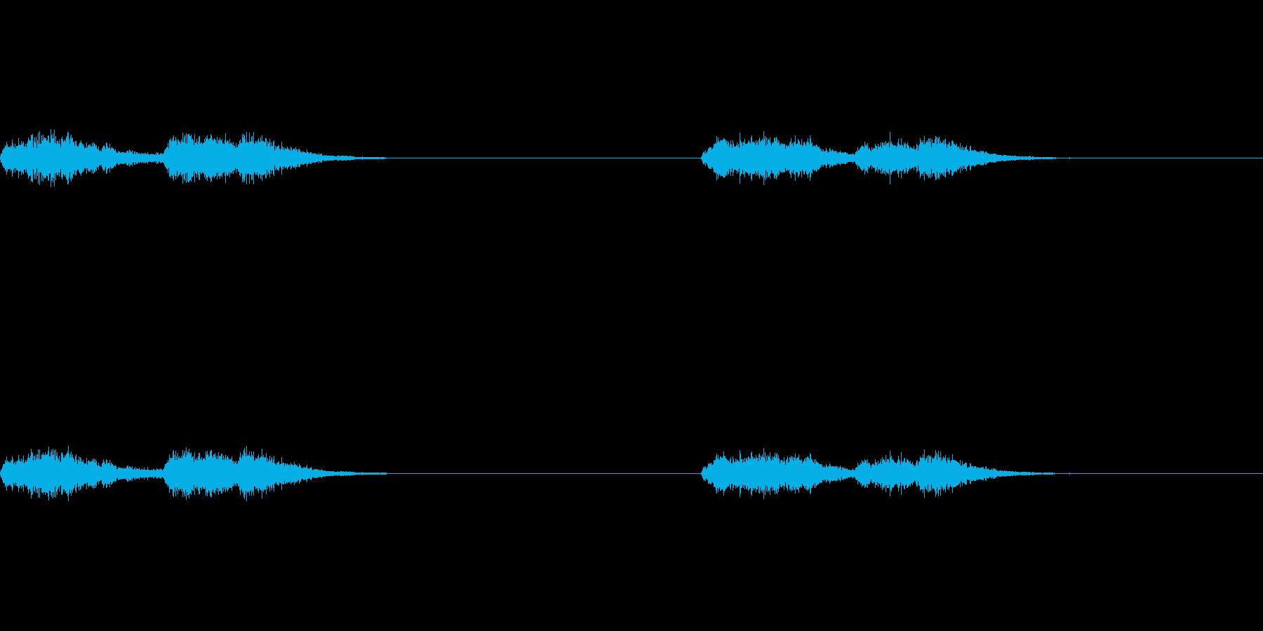 賽銭箱のところにあるガラガラ(本坪鈴)の再生済みの波形