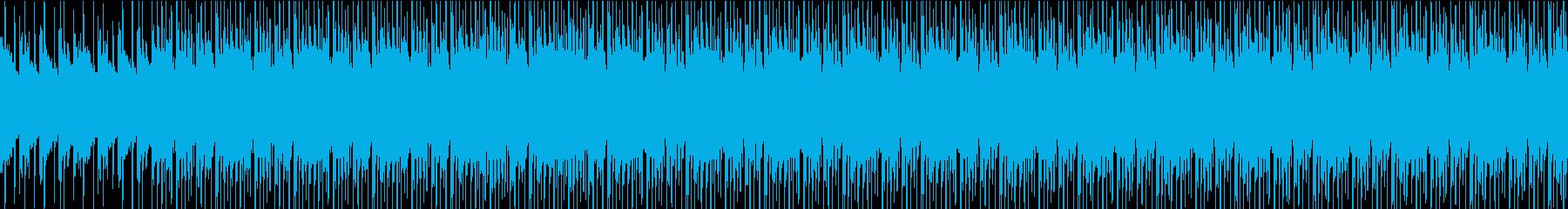 【ループ】クラップとピアノが印象的なおしの再生済みの波形
