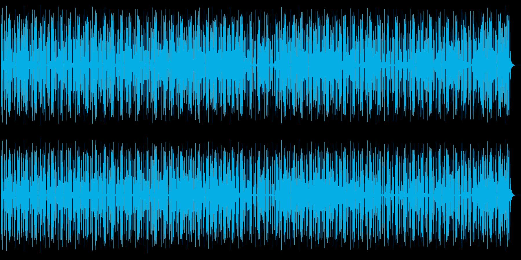 リズムよく軽快なミュージックの再生済みの波形