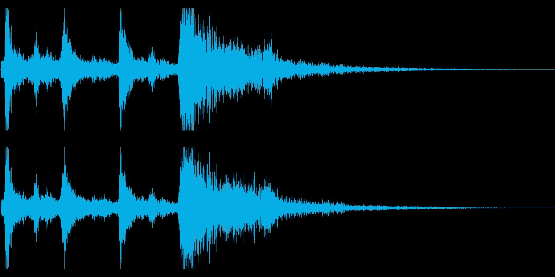 クリスマスのベル、鈴の効果音 ロゴ 12の再生済みの波形