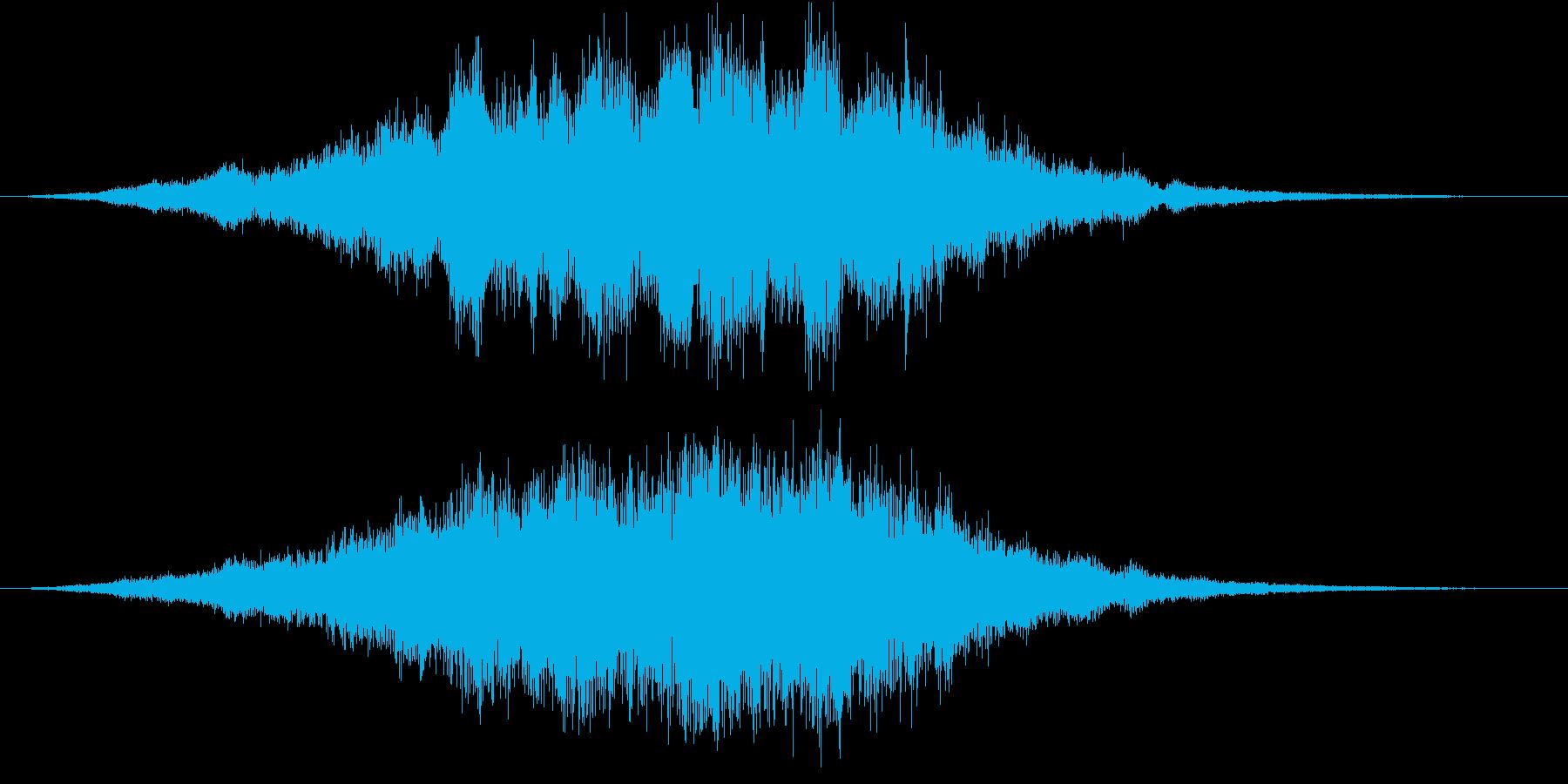 空間的なパッドの効果音です。の再生済みの波形