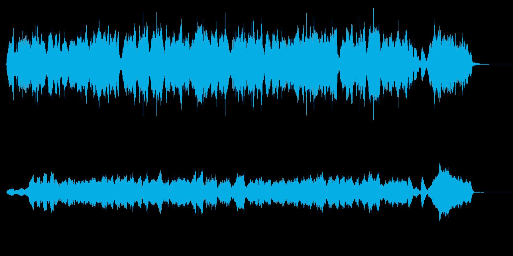 弦楽四重奏のキャッチーなジングルの再生済みの波形
