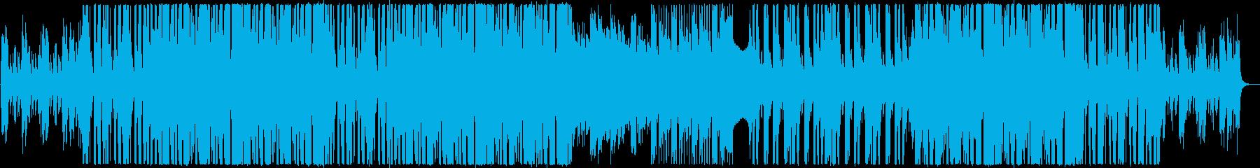 幾何学的なピアノと近未来のクラブサウンドの再生済みの波形