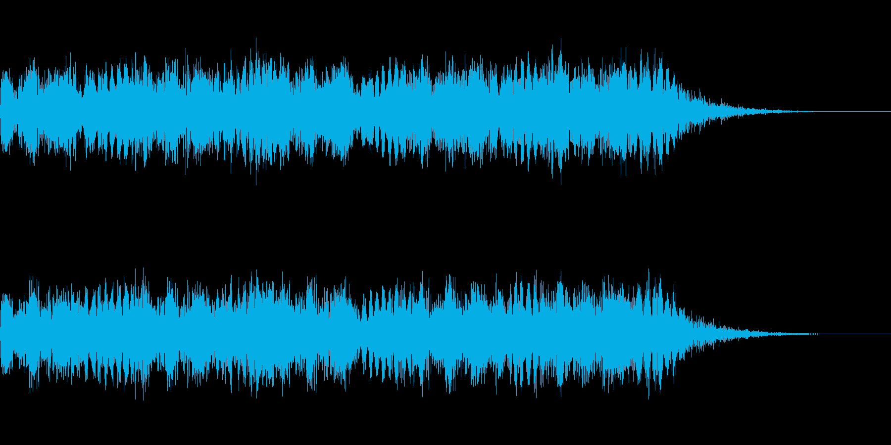 緊急時を表現するサイレン音の再生済みの波形