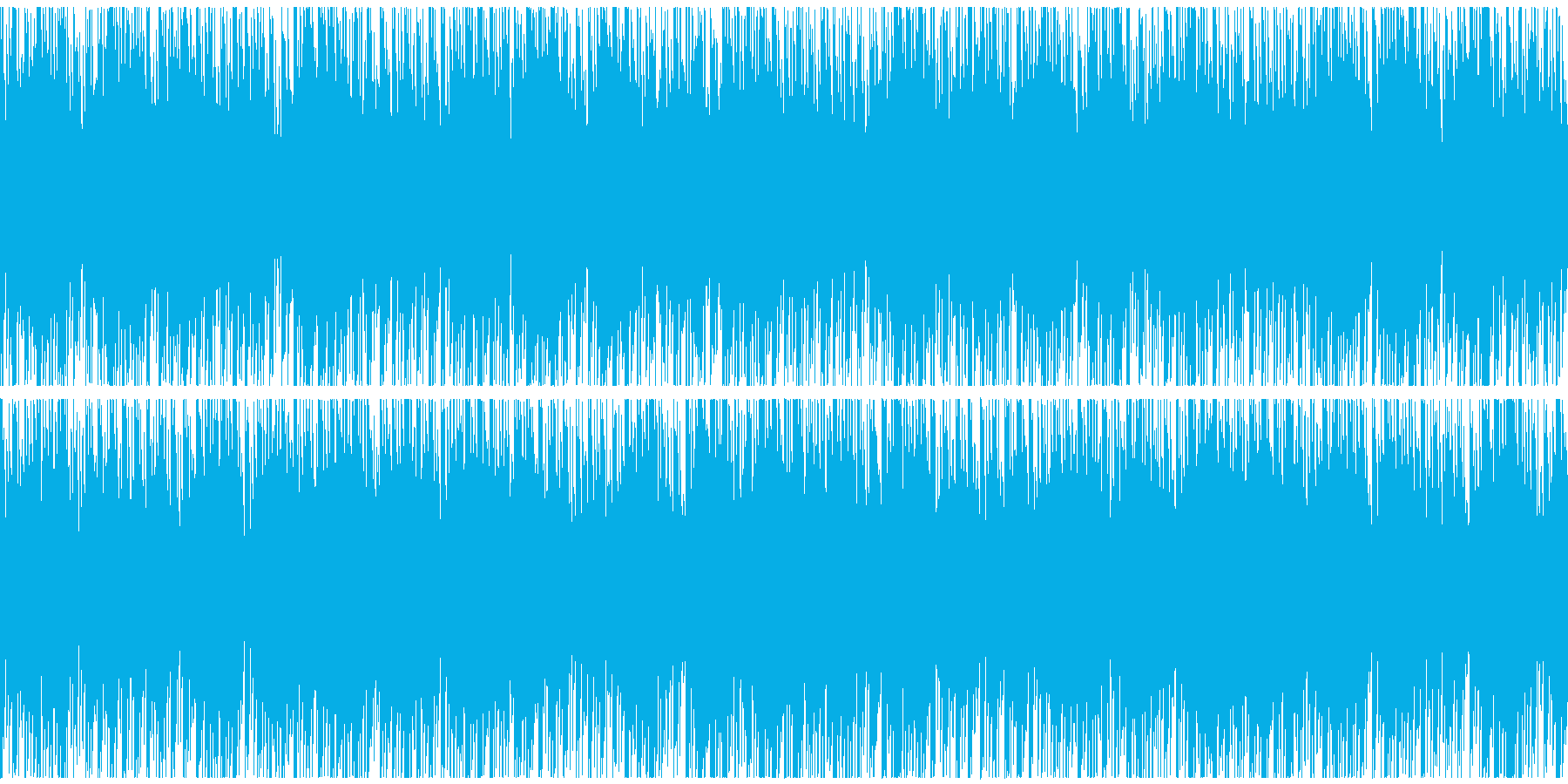 ニュースや映像、ループ可能なテクノ1の再生済みの波形