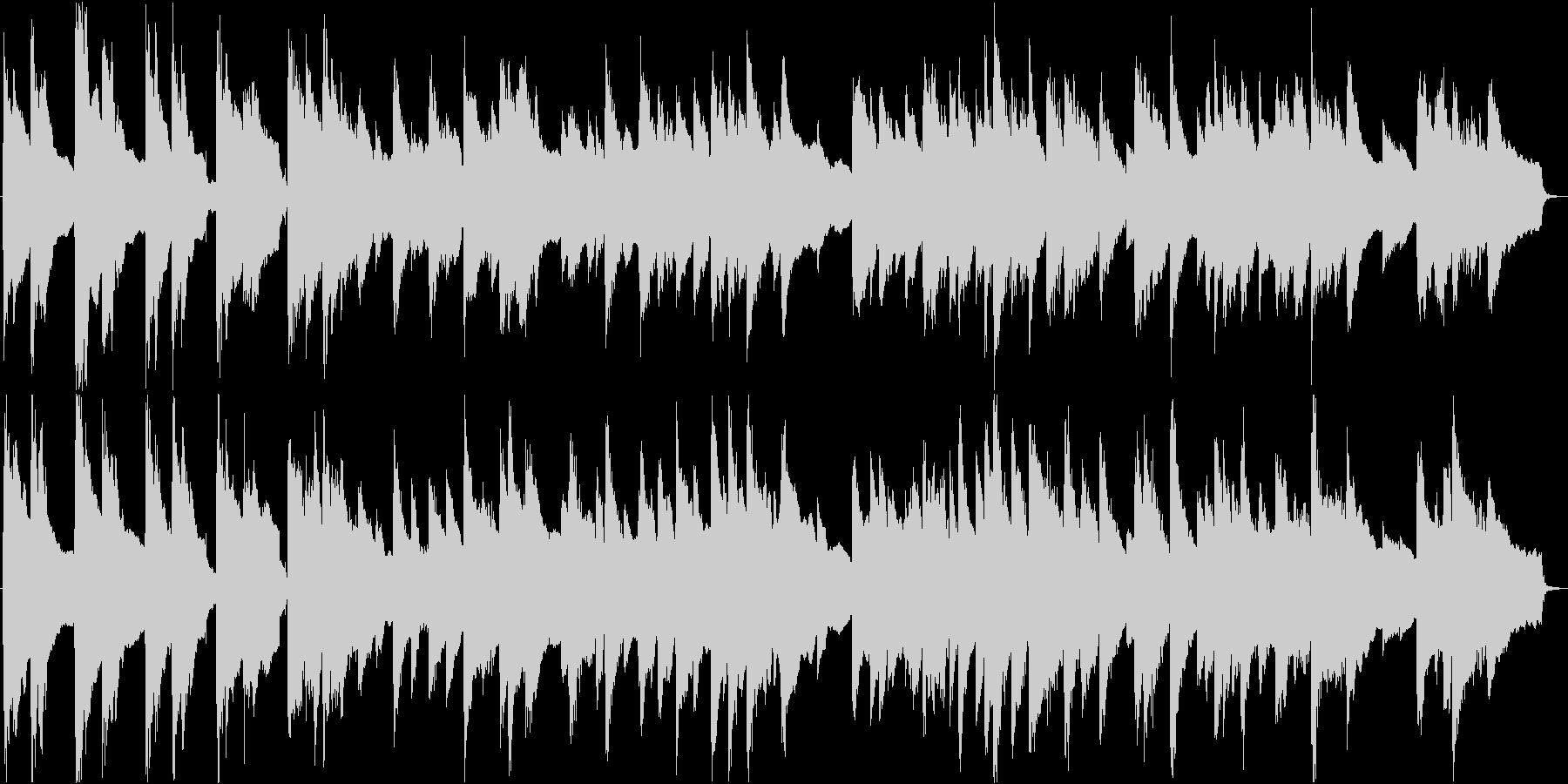 眠くなる落ち着いたアコースティック曲の未再生の波形