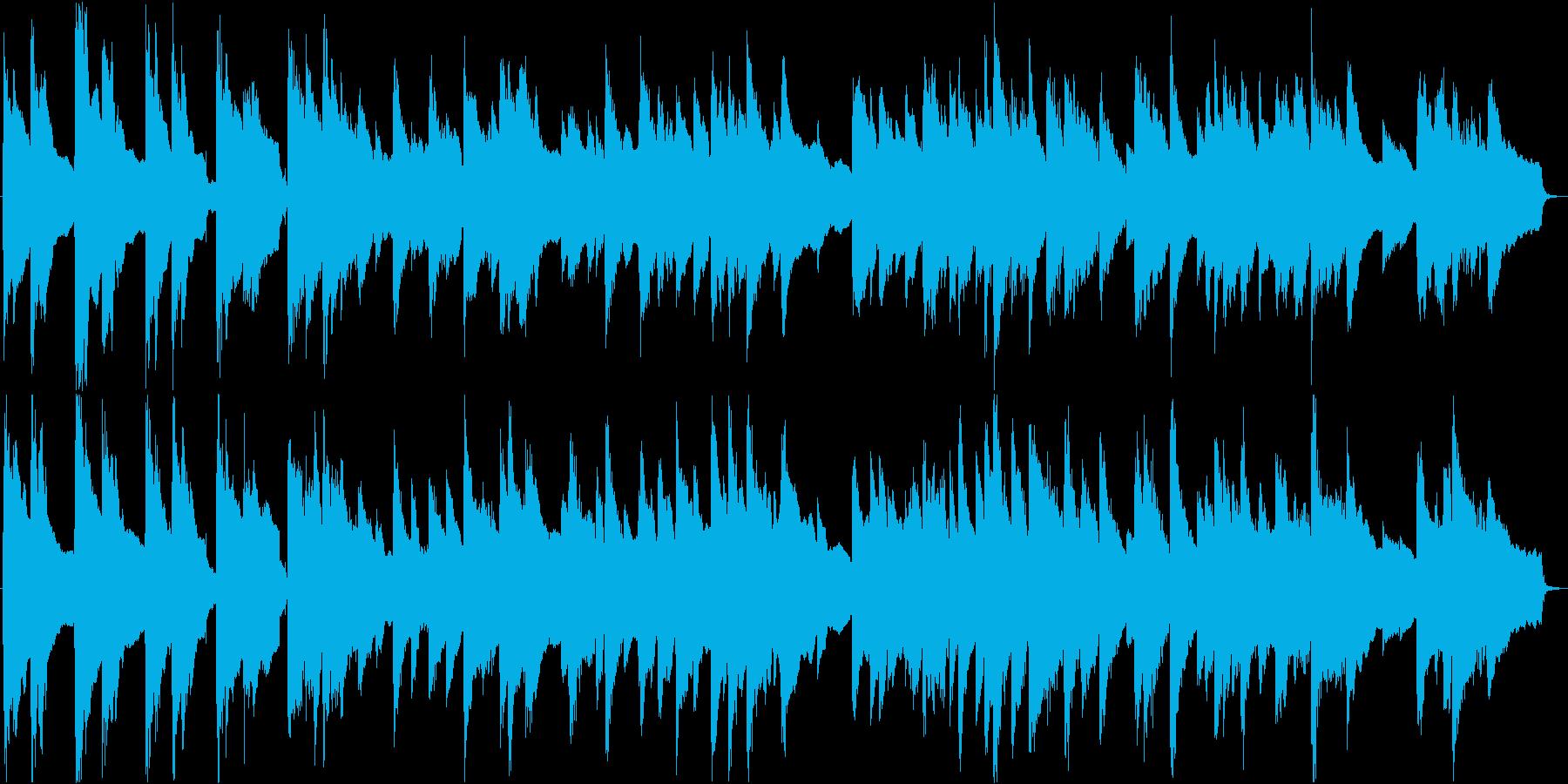 眠くなる落ち着いたアコースティック曲の再生済みの波形
