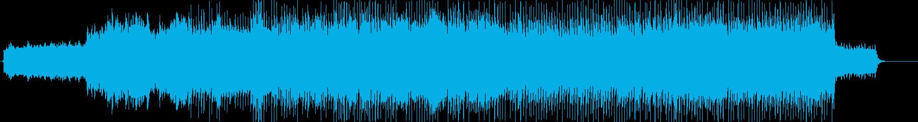 高揚感のあるバンドサウンド+ストリングスの再生済みの波形