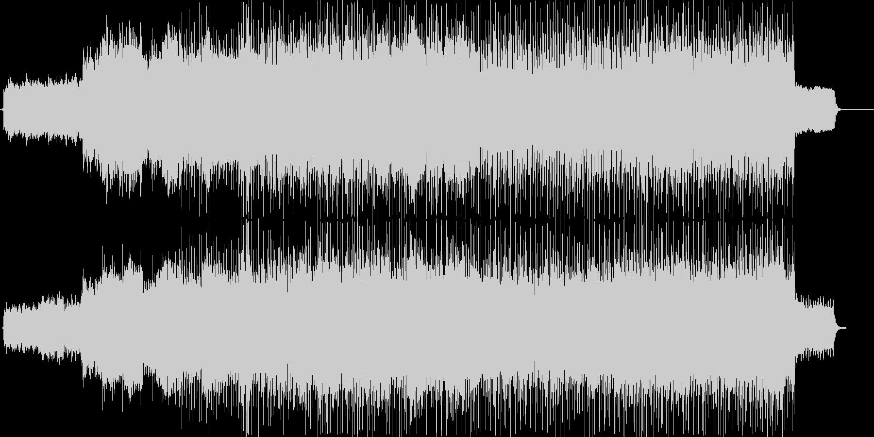 高揚感のあるバンドサウンド+ストリングスの未再生の波形