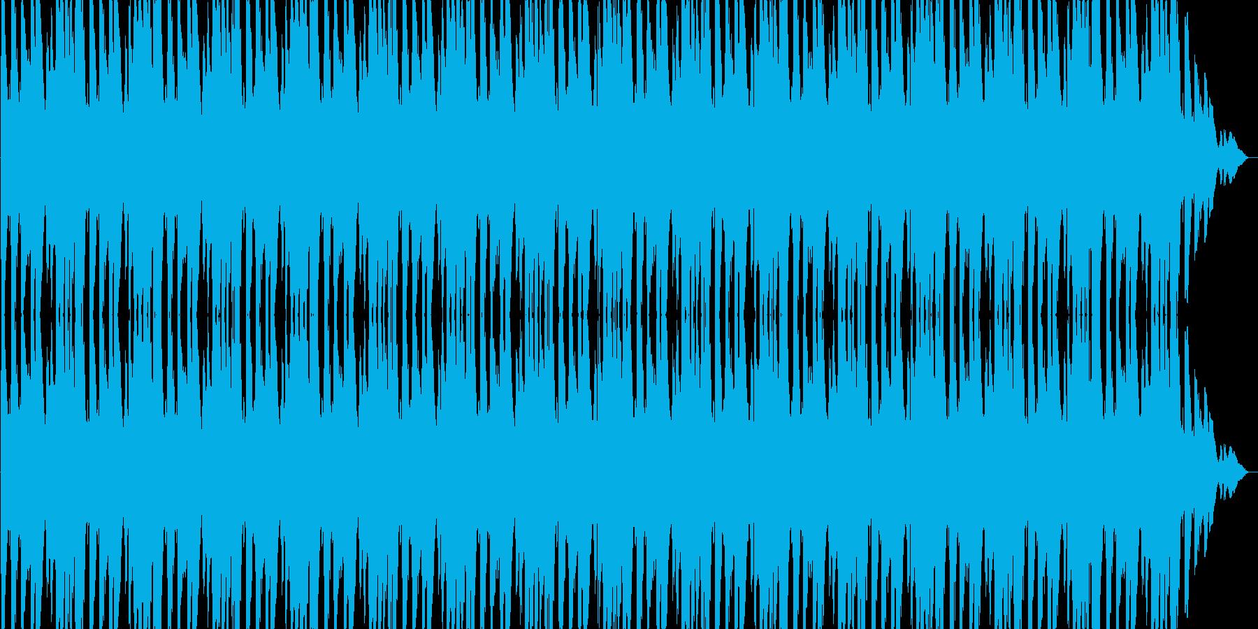 アクションゲームのBGMに効果的です。の再生済みの波形